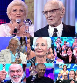 Só astros! Brinque e saiba quem já levou o Troféu Mário Lago (Domingão do Faustão / TV Globo)
