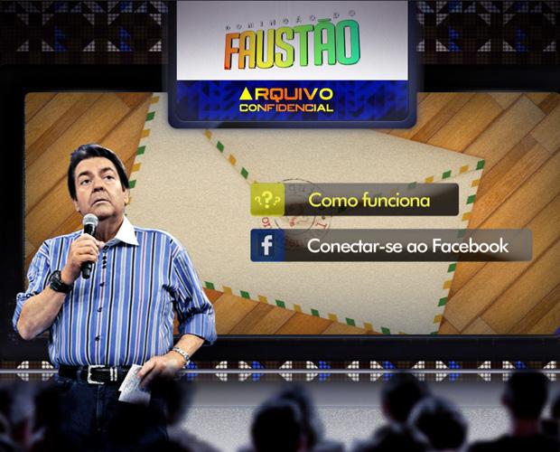 Arquivo Confidencial para surpreender quem você ama (Foto: Domingão do Faustão / TV Globo)