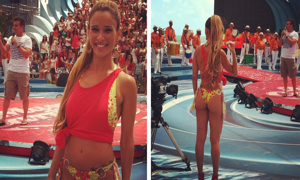 De frente ou de costas, Dany Bananinha mostra o charme com look deste verão