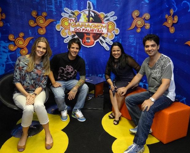 Cassiane e Jairinho participaram da Parada da Garagem desta sexta (Foto: Domingão do Faustão / TV Globo)
