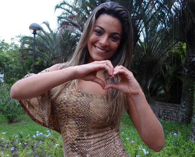 Monique (Foto: Domingão do Faustão / TV Globo)