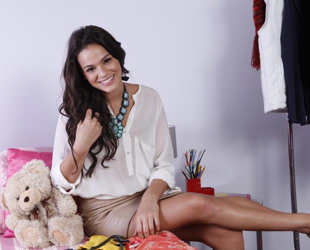 Bruna Marquezine fala sobre as mudanças na carreira (Foto: Domingão do Faustão/ TV Globo)