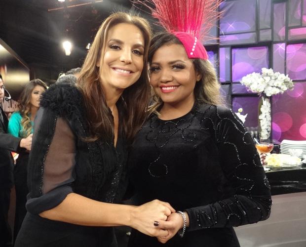 Gby Amarantos e Ivete Sangalo (Foto: Domingão do Faustão / TV Globo)