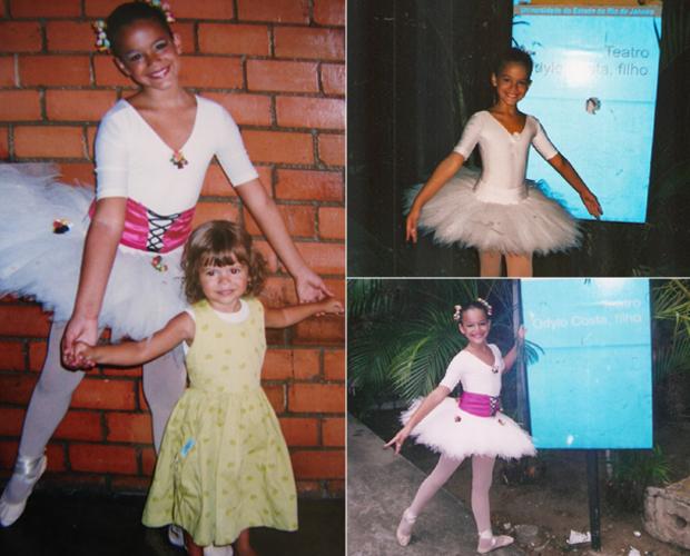 Bruna Marquezine, criança, no balé (Foto: Domingão do Faustão / TV Globo)