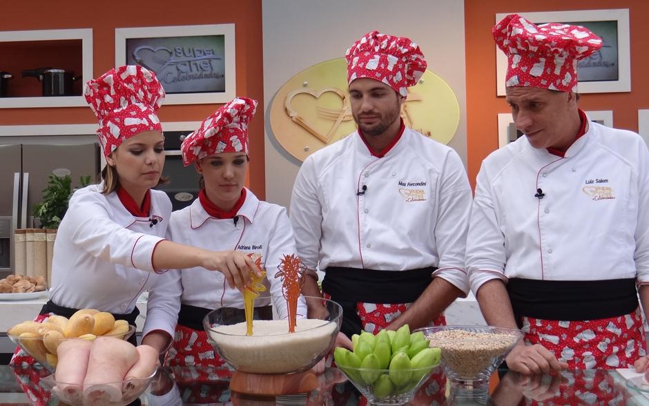 Na Prova Ingrediente Número 1, os famosos tiraram na sorte quais seriam os ingredientes principais dos seus pratos