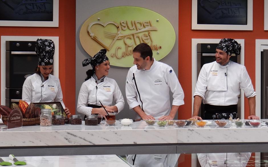 Especialista em chocolate, Alexandre Costa, recebeu os famosos para um delicioso workshop