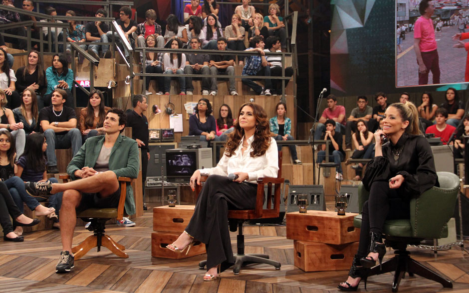 Reynaldo Gianecchini, Giovanna Antonelli e Danielle Winits participaram do Altas Horas