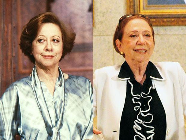 Fernanda Montenegro era Charlô, a empresária que disputou a herança com Otávio, vivido pelo ator Paulo Autran, que faleceu em 2007