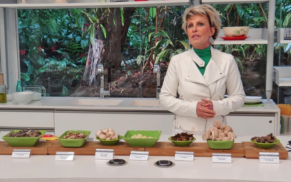 Ana Maria apresenta os tipos de cogumelos e fala sobre cada um deles