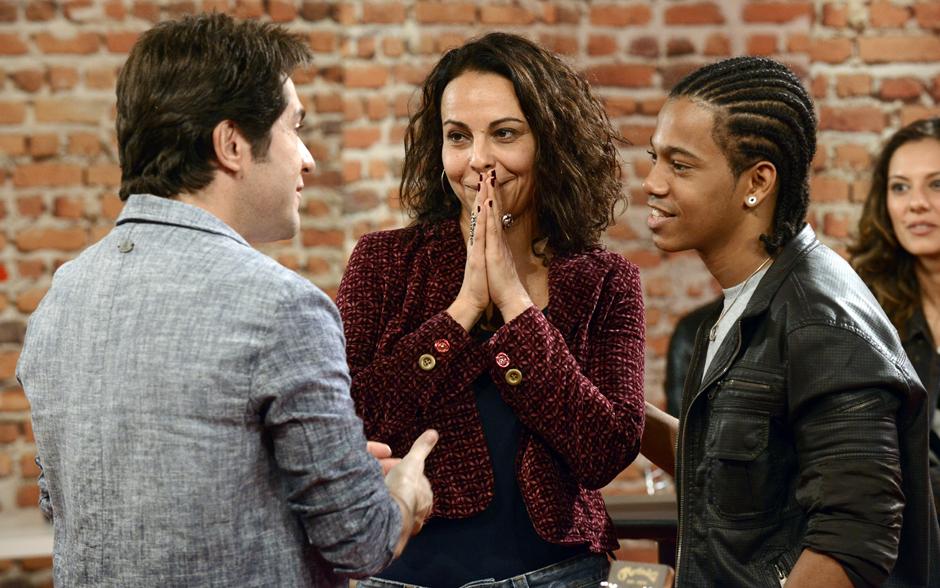 Barbara e Fernando ficam surpresos e felizes com a escolha da dupla