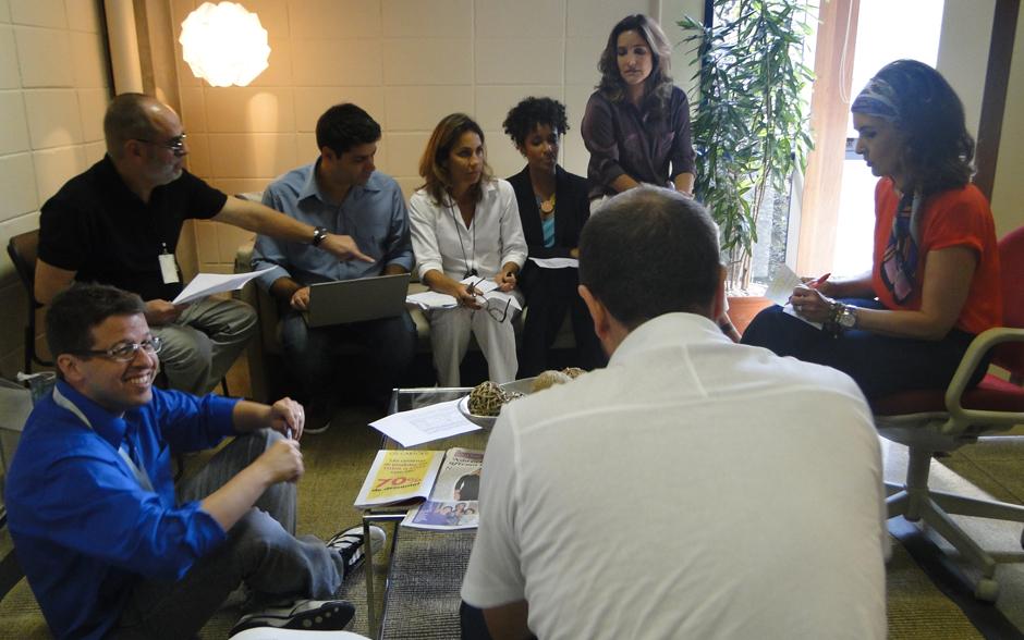 Fátima se reuiniu com a equipe e os parceiros Lair Rennó, Aline Prado e Lília Teles
