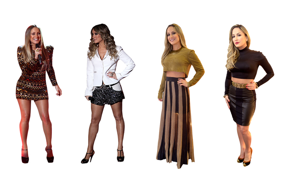 Saião, vestidinho, shortinho, blusa cropped. Alguém duvida que Claudia Leitte está super por dentro da moda?