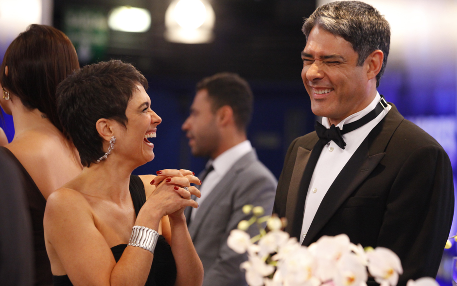 Sandra Annenberg e William Bonner se divertem