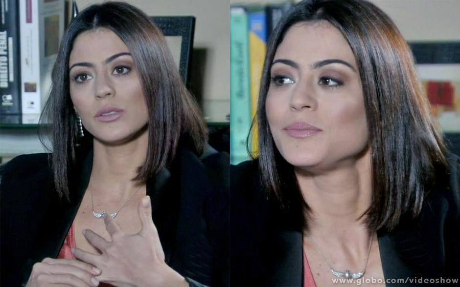 Silvia, de Amor à Vida, é adepta do corte reto e com cabelo dividido ao meio