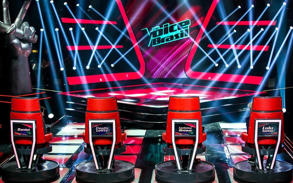 Show de luzes no palco da Audições às Cegas do The Voice Brasil