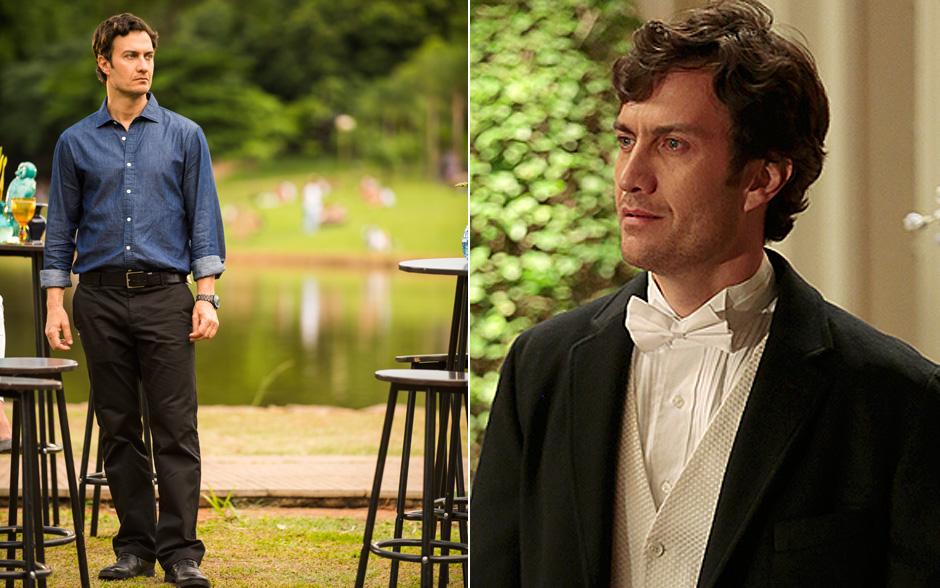 """Lindo aos 42! Na novela """"Em Família"""", Gabriel Braga Nunes interpreta Laerte. o grande amor da vida de Helena."""