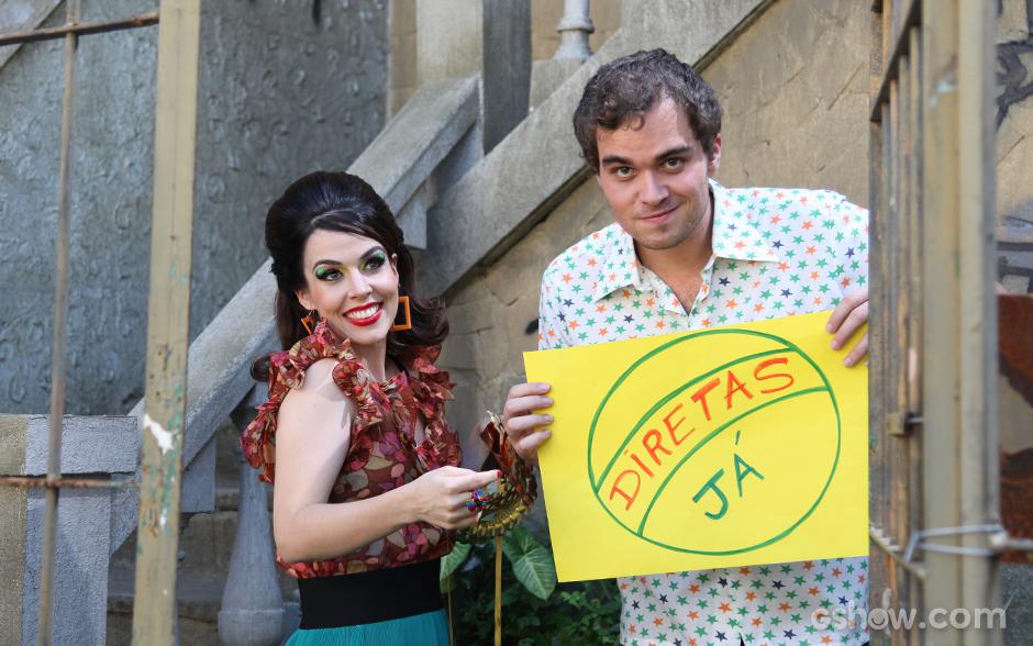 No quarto episódio, Luz Divina e Juscelino estão preparados para o comício das Diretas Já
