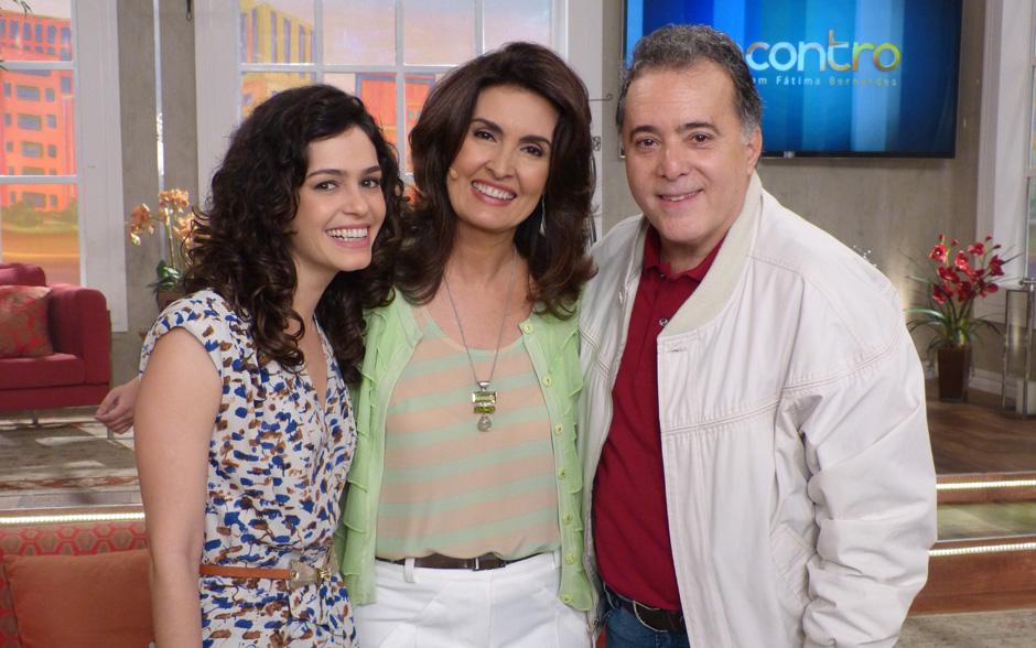 Lindos! Maria Flor, Fátima e Tony Ramos nos bastidores