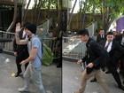 Banda que vai abrir show de Bieber em São Paulo chega e causa frisson