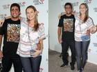 Rodrigo Santoro e Luana Piovani vão ao show de Eric Clapton no Rio
