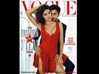 Isabeli Fontana posa sexy com ator indiano para capa de revista