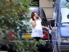 Carla Bruni aparece grávida apesar de boatos de que teria dado à luz