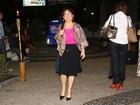 Regina Duarte vai à reestreia da peça 'Enfim Nós', com a atriz Regiane Alves