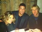 Ronaldo e Bia Anthony encontram Owen Wilson