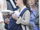 Natalie Portman passeia com o filho, Aleph, pelas ruas de Los Angeles