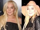 Depois de polêmica, Lindsay Lohan surge com dentes branquinhos