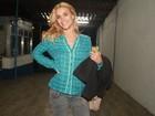 Carolina Dieckmann vai à festa de 'Fina Estampa'