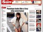 Penélope Cruz dança em set de filmagens e mostra a calcinha