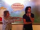 Susana Vieira e Sandro Pedroso se divertem após almoço
