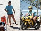 Mario Frias se exercita na praia