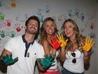 Joana Machado e Renata Banhara visitam crianças com câncer