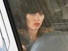 Scarlett Johansson aparece morena em set de filmagem