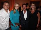 Luciano Huck e Angélica vão a evento em hotel no Rio