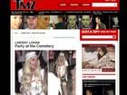 Vestida de enfermeira sexy, Lindsay Lohan vai a festa em cemitério