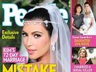 Casamento de Kim Kardashian: um erro ou falso, questiona revista