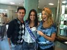 Luana Piovani encontra miss Rio de Janeiro para gravação do 'Superbonita'