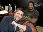 Rodrigo Veronese faz tatuagem com o nome do filho
