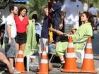 Giovanna Antonelli e Fernanda Souza gravam cenas de 'Aquele Beijo'