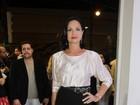 Luiza Brunet faz sucesso com saia longa que usou na década de 80