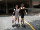 Mariana Ximenes e Claudia Raia visitam Gianecchini no hospital