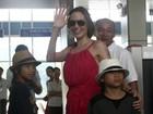 Brad Pitt e Angelina Jolie levaram filho para conhecer avó, diz revista