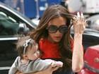 Victoria Beckham passeia com a filha de quatro meses em Nova York
