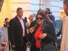 Depois de coletiva de imprensa, Salma Hayek circula pelo Rio