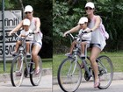 Samara Felippo passeia de bicicleta com a filha