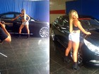 Babi Rossi empina o bumbum em campanha de amortecedores de carro