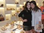 Fernanda Paes Leme vai a inauguração de loja no Rio